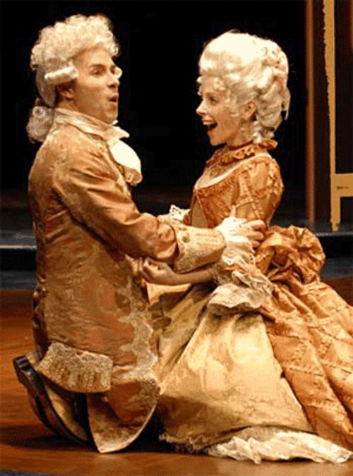 Douglas Harmsen and Stephanie Cozart in  Amadeus.