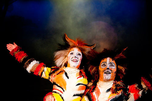 Joanie Brosseau and Stephen Bertles in Cats.