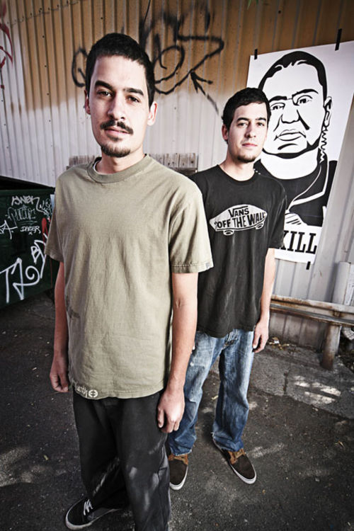 Jesse (left) and Corey Knapper created the Slang Gang — and then took them to the streets.