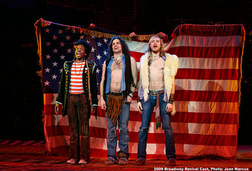 Tribe members from the Broadway revival of Hair.