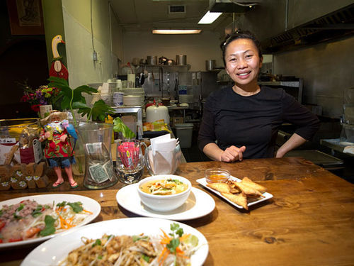 Utumporn Killoran has brought her cooking indoors at Thai Street Food Restaurant.