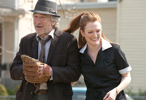 Robert Deniro and Julianne Moore in Being Flynn.
