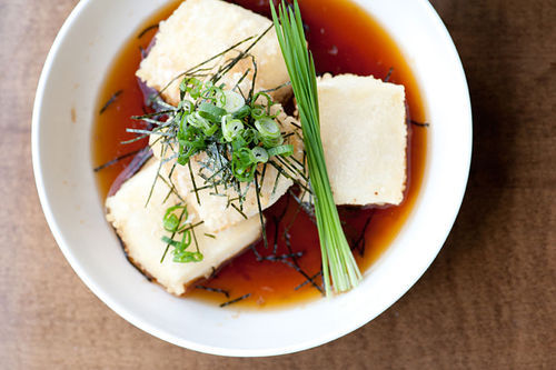 Agedashi tofu is one of the Japanese specialties on the menu at Hana Japanese Bistro. Slide show: In the kitchen at Hana Japanese Bistro.
