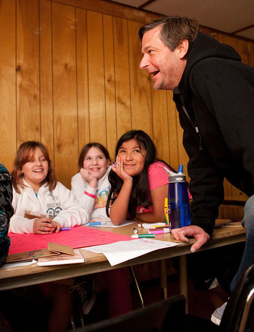 Jamie Moyer talks with girls at Camp Mariposa, a project of the Moyer Foundation. Infographic: Pitcher Jamie Moyer has shut down the Rockies' best hitters
