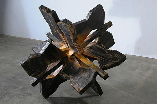 """Snowflake,"" by Brian Nash Gill, wood."