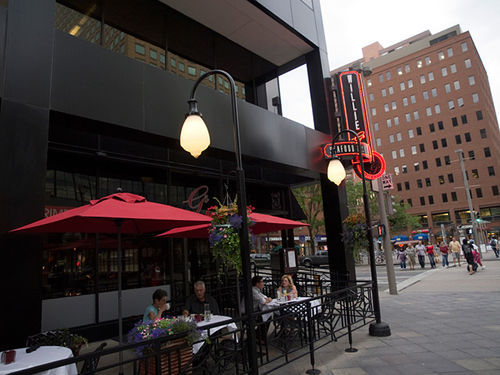 The patio at Willie G's offers prime people-watching on the 16th Street Mall.