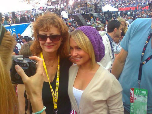 Susan Sarandon showed her support in Denver in 2008.