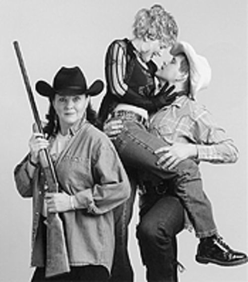 Judith Allen, Samantha Blazier and R. Todd Hoven in Flaming Guns of the Purple Sage.