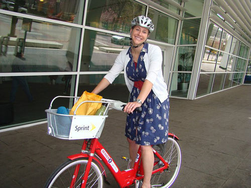Emily Snyder, senior city planner with the Department of Public Works, likes bikes.