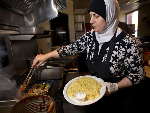 Mariam Ali keeps the home fires burning at Shish Kabob Grill.