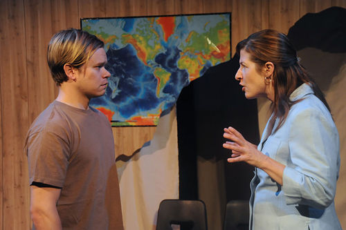 Ryan Wuestewald and Emily Paton Davies in How the World Began.