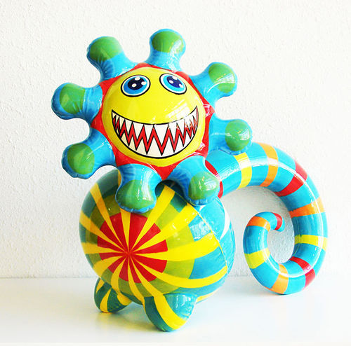 """Scary Sunshine,"" by Phillip Maberry and Scott Walker, glazed ceramics. More photos of Toy Stories II"