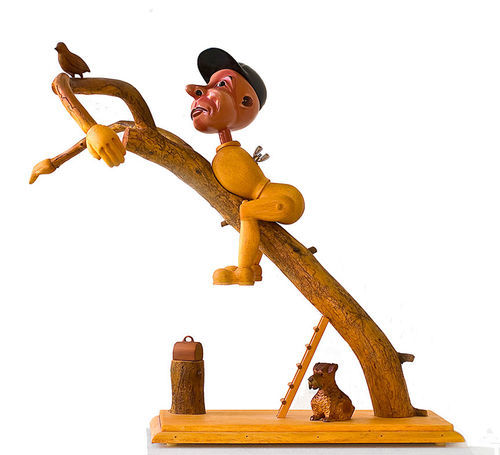"""Uncle Sedley's Holiday,"" by Michael Stevens, pine and enamel. More photos of Toy Stories II"