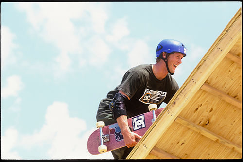 Danny Way on the Super Ramp in 1997.
