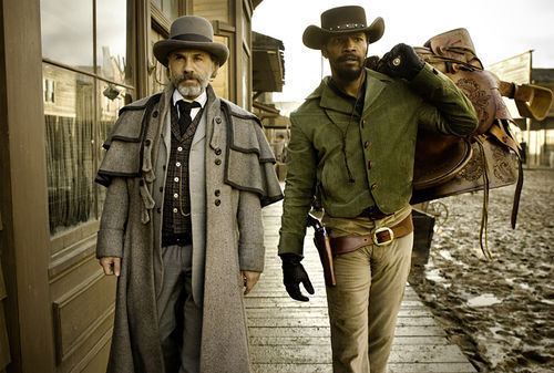 Christoph Waltz and Jamie Foxx star in Django Unchained.
