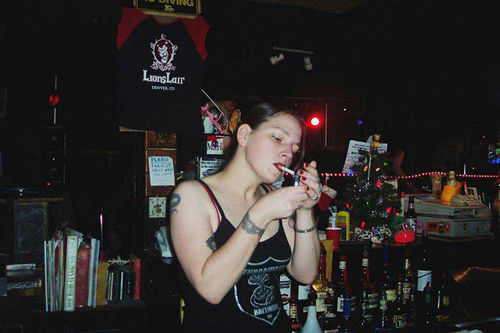 "Franklin seemed at home working the bar at the Lion's Lair, but ""she really wasn't a tough person,"" her aunt says. See also: In Memory of Kimmyan Franklin"
