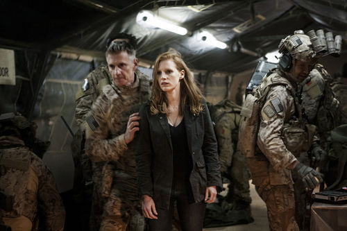 Jessica Chastain stars in Zero Dark Thirty.
