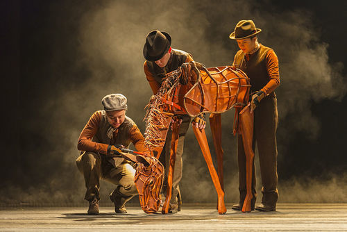 Catherine Gowl, Nick LaMedica and Laurabeth Breya in War Horse.