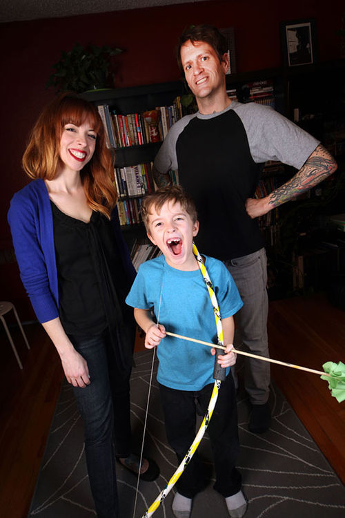 Ben Roy (right) with his wife, Crystal, and their son, Milo.