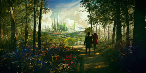 James Franco and Mila Kunis star in Oz the Great and Powerful.
