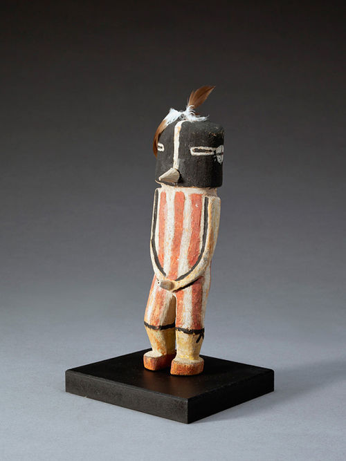 """Kookopölö Katsina,"" by unknown Hopi artist, wood, paint and feathers. For more photos: Denver Art Museum's Georgia O'Keeffe exhibit showcases her time in New Mexico"