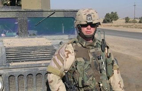 "During his three deployments to Iraq, Joel Hunt worked as an ordnance disposal technician, detonating roadside bombs on ""RPG Alley."""