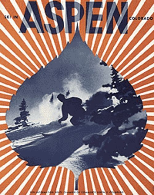 """Ski in Aspen,"" by Herbert Bayer, lithograph."