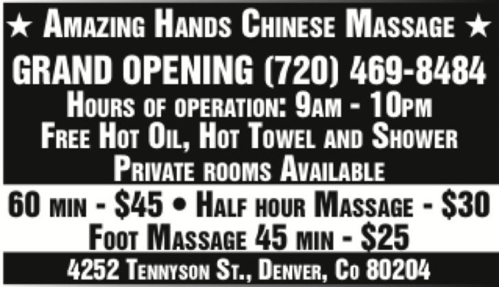 Amazing Hands Chinese Massage