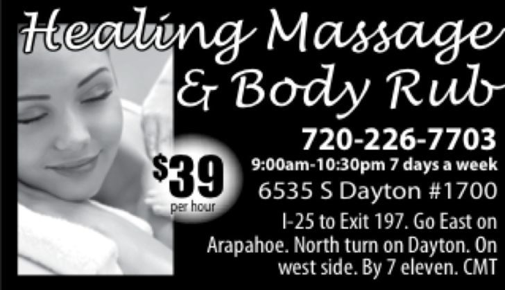 Healing Massage & Body Rub