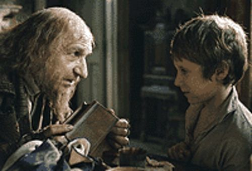 Faginaboudit: Ben Kingsley and Barney Clark plan  their next move in Oliver Twist.