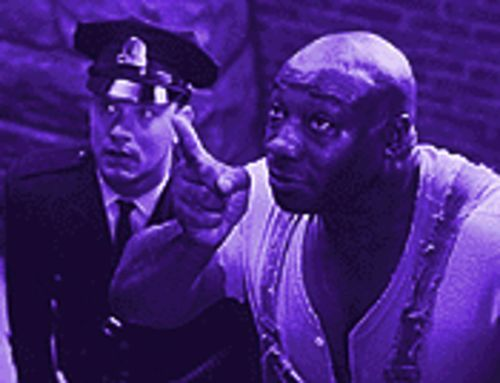 Death row: Michael Clarke Duncan (right) gives Tom Hanks a lesson in living in The Green Mile.