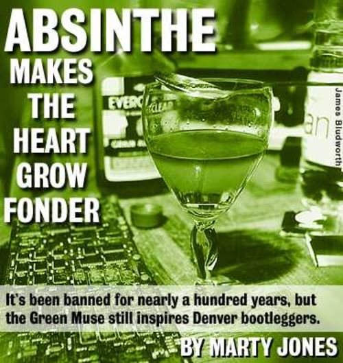 Unexcused absinthe: It's party time at Wormwood and Warpo's apartment.
