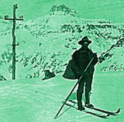 Ski-sons greetings: A mail carrier near Ouray in 1912.