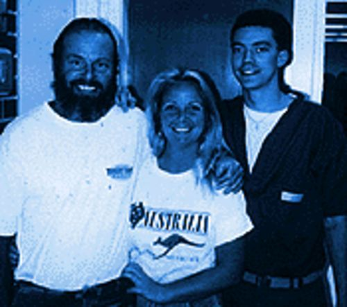 Tim Beckius, Carrie Milici and Josh Beckius in May 1997.