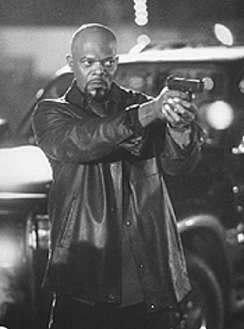 Samuel L. Jackson is upright and outasight as Shaft.