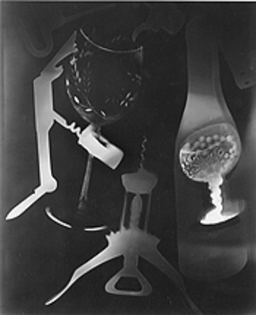 """Vino: �Hal-o-gram,'"" by Hal Gould, photogram."