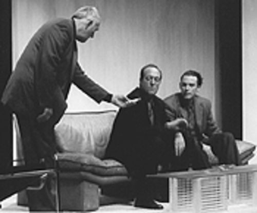 Jim Hunt, Paul Borrillo and Chip Walton (from left) in Curious Theatre Company's Art.