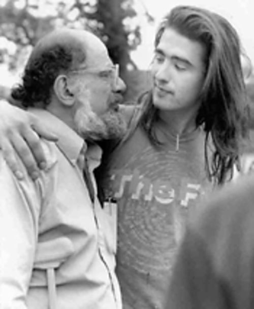 "Ginsberg and his ""best young poet"" Chris Ide at Naropa."