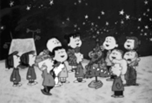 "Sleigh bells in the air, beauty everywhere: a scene from A Charlie Brown Christmas. Little-known fact: In 1990, director John Hughes talked to Charles Schulz about making a live-action version of the holiday special. ""It will never happen,"" says Lee Mendelson. ""Oh, God, no."""