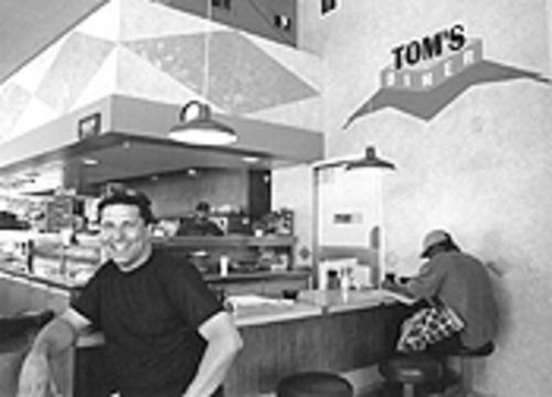 Nothing could be finer than dinner in this diner: Tom Messina inside Tom's.
