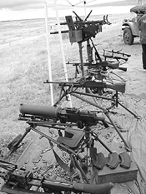 A variety of weapons were part of the Fun Shoot staged by Rocky Mountain Gun Owners.