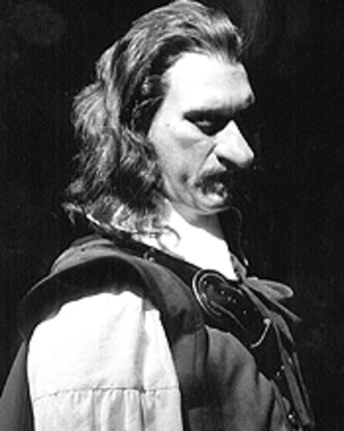 Bill Christ takes the lead in Cyrano de Bergerac.