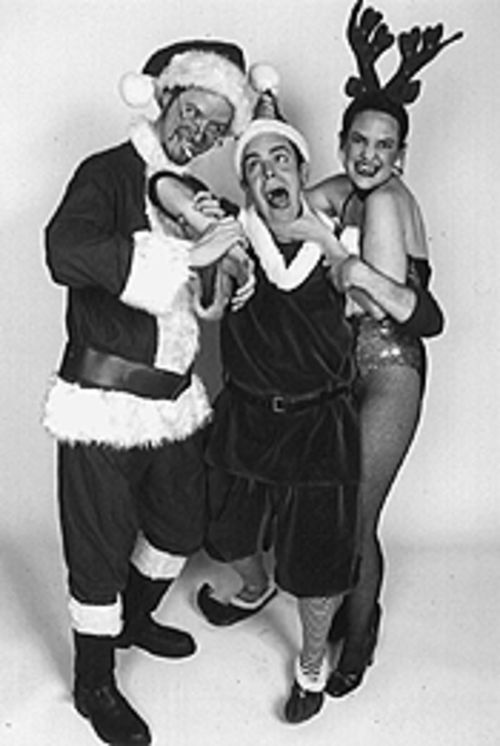 Alex Weimer, Gary Culig and McPherson Horle in The Santaland Diaries.