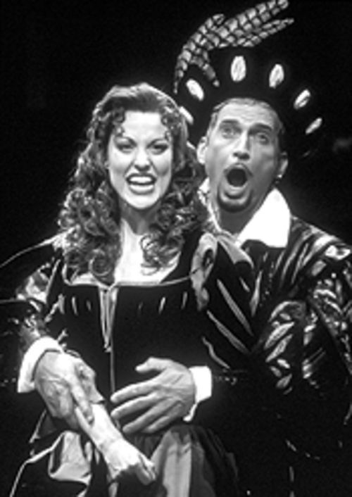 Rachel York and Rex Smith in Kiss Me, Kate.