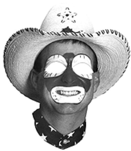 A rodeo clown mask is a grand souvenir.