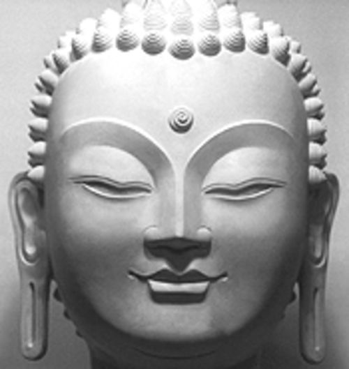 A depiction of the Buddha.