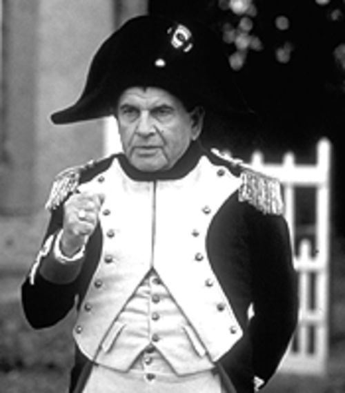 Napoleonic complex: Ian Holm plays the exiled monarch in The Emperor's New Clothes.