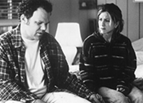 Real friends? John C. Reilly and Jennifer Aniston get uncomfy in The Good Girl.