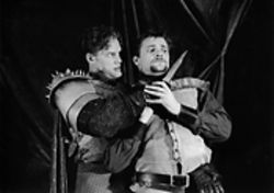 Michael Huftile and Neil Hopkins in Henry V.