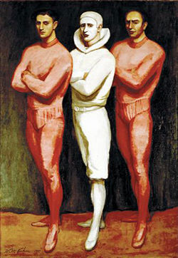 """Trio,"" by Walt Kuhn, oil on canvas."